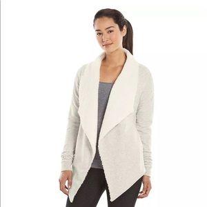 GAIAM Sweaters - Gaiam Sherpa Lined Athletic Cozy Cardigan Sweater